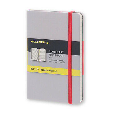 NEW Moleskine Pocket Ruled Aser Grey Contrast Notebook