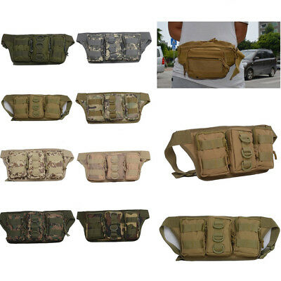 Tactical Military Molle Waist Pack Shoulder Outdoor Camping Hiking Fanny Bag