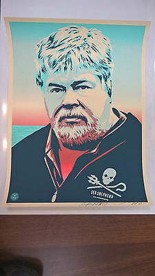 Shepard Fairey - Paul Watson print - signed & numbered - Obey