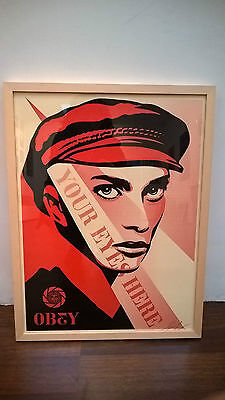 Shepard Fairey - your eyes here - print - signed & numbered - Obey