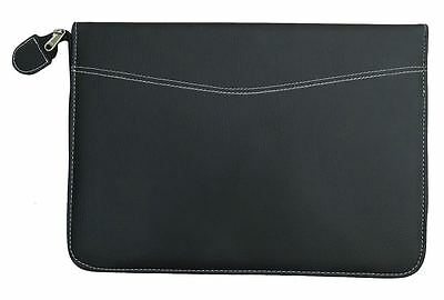 Documents File Faux Leather Business Portfolio Conference Folder Zippered