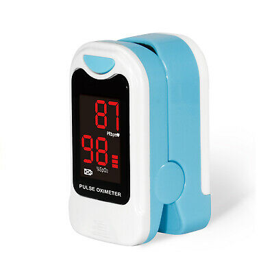 NEW Fingertip Pulse Oximeter Blood Oxygen Saturation SPO2 Monitor with CarryCase