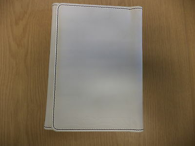 White Leather Vauxhall Adam Literature Wallet No Books Included