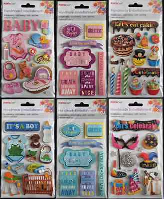 Celebration Birthday Baby Girl Boy Handmade Embellishments - Scrapbooking  Craft