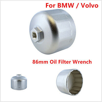 Car 86mm Oil Filter Wrench Cartridge Style Filter Housing Cap Tool For BMW Volvo