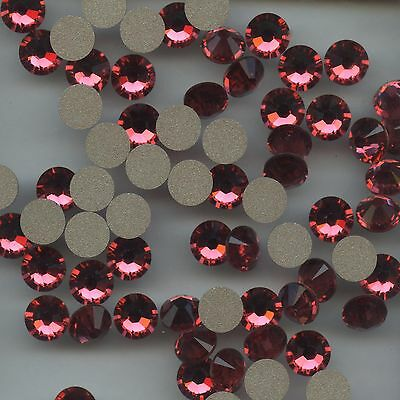 2058 SS34 IP *** 8 STRASS SWAROVSKI FOND PLAT 7,2mm   INDIAN PINK  F