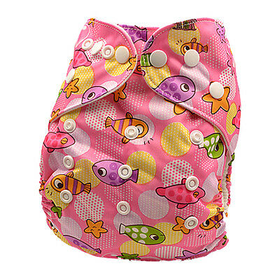 Adjustable Reusable Modern Cloth Nappies with Snaps Girly Baby MCN Nappy (D134)