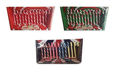 New Sweet Shop Christmas Tree Xmas Candy Canes Delicious Flavours Gift Set of 12