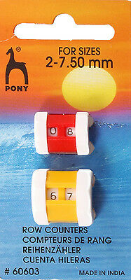 Pony-Row Counter. Combi Pack Sizes, 2.00mm - 7.50mm. Small and Large.