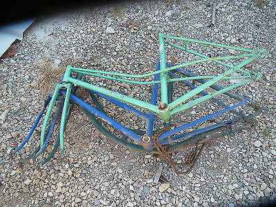 Lot Cadre Ancien Velo Vieux Cycle Vintage Bicycle Frame