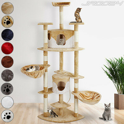 204 cm Large Cat Tree Scratching Post Climbing Kitten Toy Bed Activity Centre