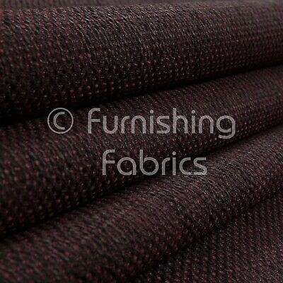 10 Metres Of Heavy Woven Texture Hopsack Sofas Red Burgundy Upholstery Fabric