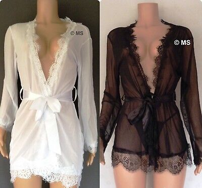 See Through Robe Sheer Negligee Daring Chemise Plus Size Lingerie Big Size 10 14