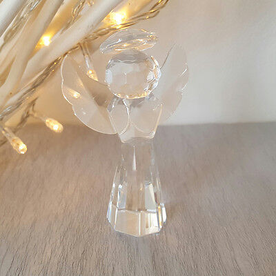 CRYSTAL Glass ANGEL Shape Ornament Christmas Stocking Filler SECRET SANTA GIFT
