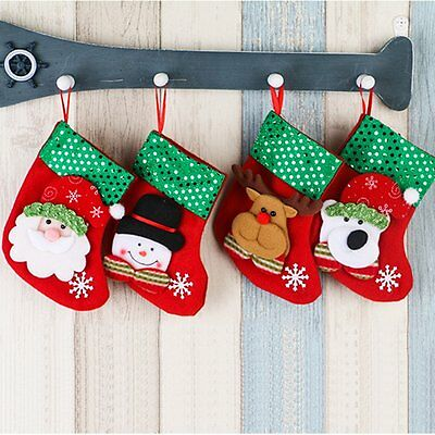 Christmas Santa Socks Cute Ornaments Festival Party Xmas Tree Hanging Decoration