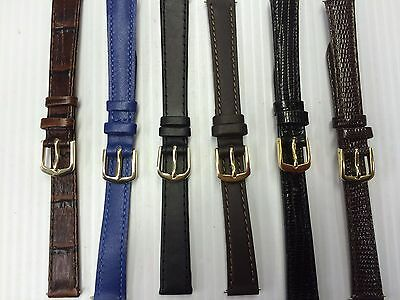 Apollo Ladies Superior quality, genuine leather watch straps 8mm,10mm,12mm,14mm