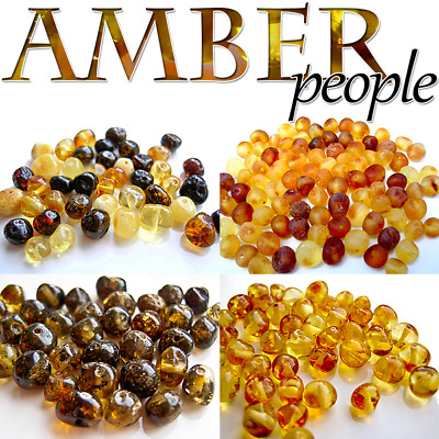 Authentic Baltic Amber Holed Loose Rounded Beads 5-20g *Raw & Polished Amber*