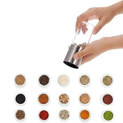 Kitchen Manual Stainless Steel Pepper Spice Salt Mill Grinder Muller Tool K3P9