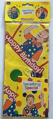 Mr Tumble Something Special Giftwrap Set 2x Wrapping Paper 2x Gift Tags