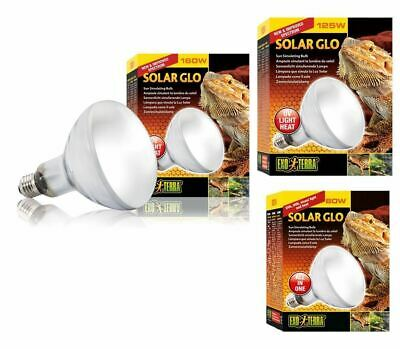 Exo Terra Solar Glo Reptile Heat Lamp UVA UVB Light ALL in 1 Bulb 80w 125w 160w