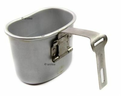 Original Belgian army canteen cup mug mess aliuminum pot bushcraft like US M1910