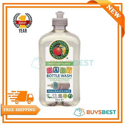 Earth Friendly Products Concentrated Baby Bottle Wash Fragrance Free, 500ML EFP6