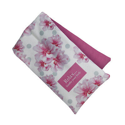 Aroma Home Soothing Cherry Blossom Scented Microwaveable Floral Cotton Body Wrap