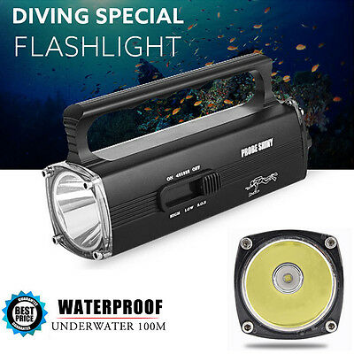 Waterproof 8000LM CREE XML2 T6 LED Scuba Diving Underwater 100M Flashlight Torch