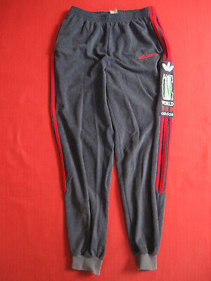 Pantalon survetement Adidas One World Gris et rouge Vintage 80'S retro - 168 / S