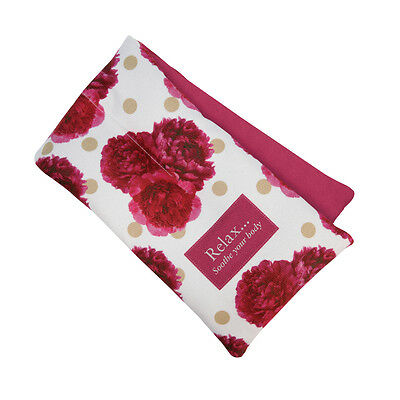Aroma Home Soothing Peony Scented Microwaveable Pretty Floral Cotton Body Wrap