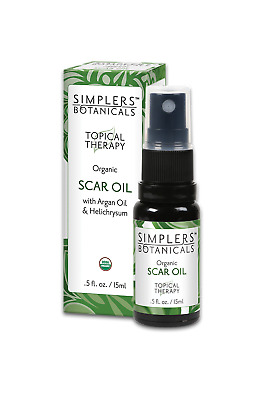 Simplers Botanicals Scar Oil Organic Topical Therapy Blend 15ml Argan Oil Helich