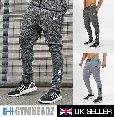 Mens Gym Slim fit Skinny Fitted Joggers Pants | Tapered Cuffed Bottoms Training