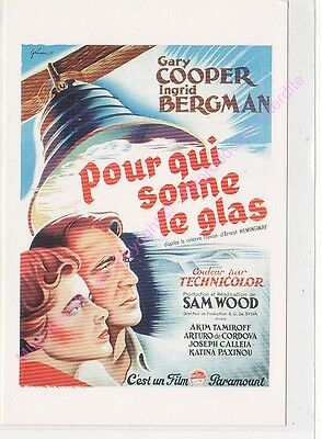 CPM REPRODUCTION AFFICHE du film Pour qui sonne le glas