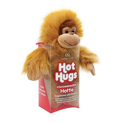 Aroma Home Hot Hugs Hottie ORANGUTAN Soft Toy With Lavender Microwavable Tummy