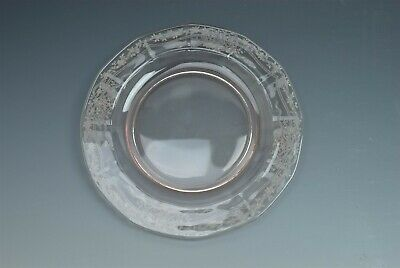 "Fostoria June Pink Etched 7.5"" Salad  Plate (s)"