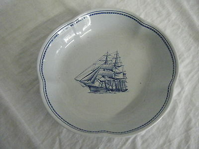 C4 Porcelain Spode Trade Winds Blue Serving Dish Scallop Edge 22x4cm 6D4A