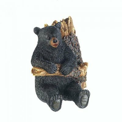Cute Rustic Mountain Woods Black Bear In A Tree Wall Hook NEW Home Decor Forest