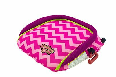 BubbleBum Inflatable Booster Seat, PINK/CHEVRON  New