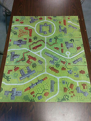 """Table Top Map """"Keep with Village"""" Set of Role-playing 3 Maps 26"""" x 11"""" D & D"""