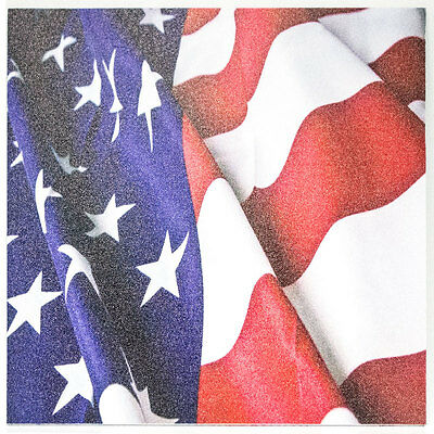 """Infused Kydex Dark USA Print 7.5/"""" X 7.5/"""" Sheet Multi Lots Available"""