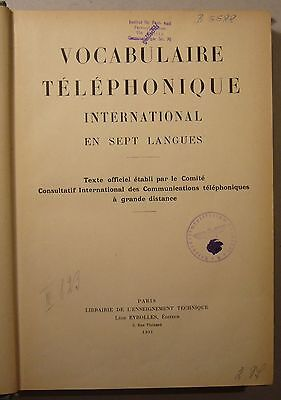 Wörterbuch Ccitt: Vocabulaire Téléphonique International En Sept Langues, 1931