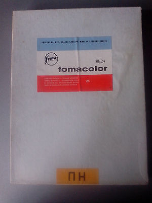Vintage Photo Paper Foma Color Glossy Fomacolor 25 sheets 18x24cm Out of Date