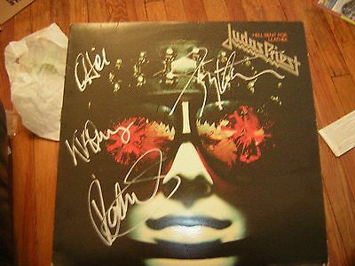 - Judas Priest Signed Lp Hell Bent For Leather Rob Halford