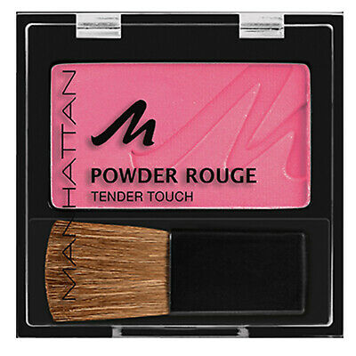 Manhattan Pressed Powder Rouge Tender Touch Blush Blusher Compact with Brush
