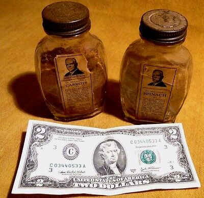Rare (2) Vntge Jars- Dr. Mc Cormick's Dried Health Foods-Some Contents & Labels!