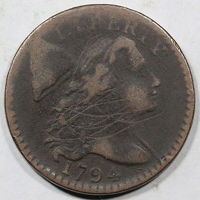 1794 S-59 R-3 Liberty Cap Large Cent Coin 1c