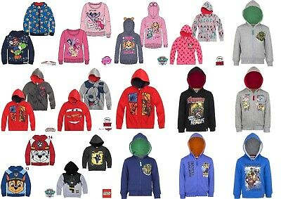 Boys Girls Kids Character Jumper Hoodie Hoody Jacket Top Sweatshirt age 2-10 yrs