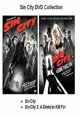 SIN CITY DOUBLE PACK DVD 2 MOVIE FILMS PART 1 2 DAME TO DIE FOR New Sealed UK