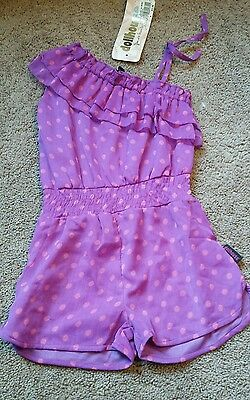 NWT Dollhouse Girl's Romper Pink Purple Size 4