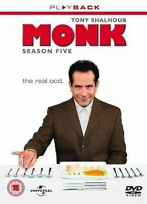 MONK COMPLETE SERIES 5 DVD Box Set Season New and Sealed 5th Fifth UK R2